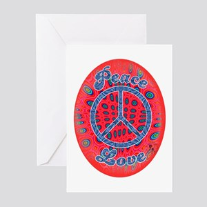 Peace & Love 1 Greeting Cards (Pk of 10)