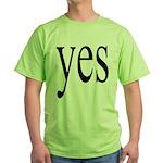 316. yes. .  Green T-Shirt