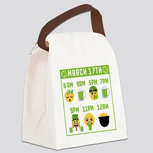 March 17th Schedule Canvas Lunch Bag