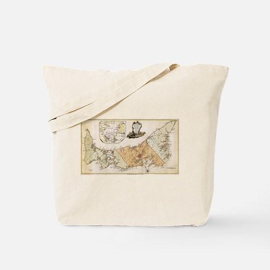 Vintage Map of Prince Edward Island (1775 Tote Bag