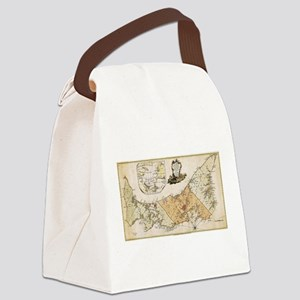 Vintage Map of Prince Edward Isla Canvas Lunch Bag