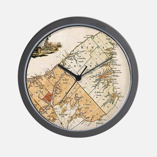 Vintage Map of Prince Edward Island (17 Wall Clock