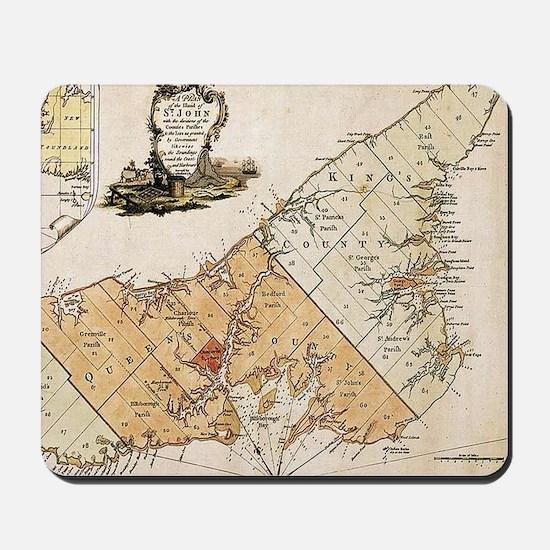 Vintage Map of Prince Edward Island (177 Mousepad