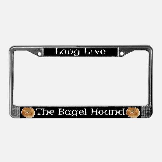 Long Live The Bagel License Plate Frame