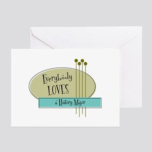 Everybody Loves a History Major Greeting Cards (Pk