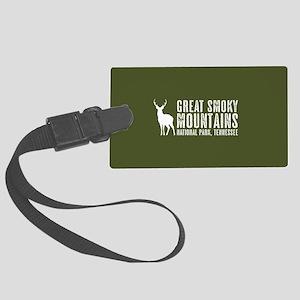 Deer: Great Smoky Mountains, Ten Large Luggage Tag