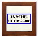 Ron Paul cure-1 Framed Tile