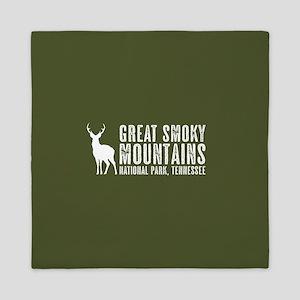 Deer: Great Smoky Mountains, Tennessee Queen Duvet