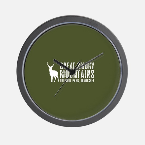Deer: Great Smoky Mountains, Tennessee Wall Clock