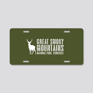 Deer: Great Smoky Mountains Aluminum License Plate