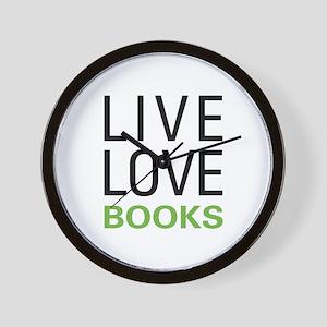 Live Love Books Wall Clock