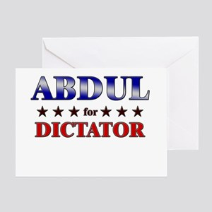 ABDUL for dictator Greeting Card