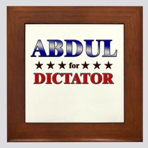 ABDUL for dictator Framed Tile