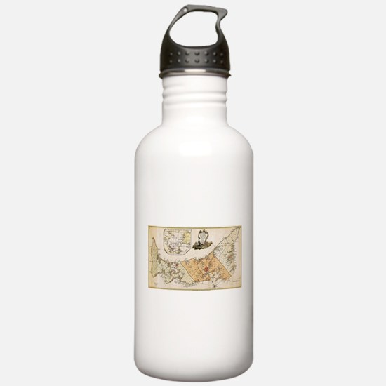 Vintage Map of Prince Water Bottle