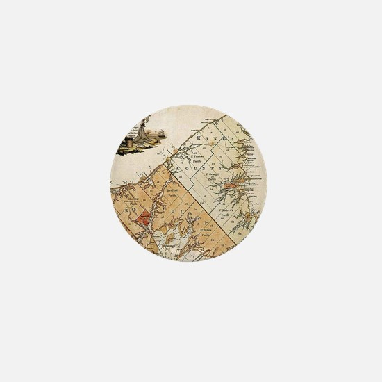 Vintage Map of Prince Edward Island (1 Mini Button