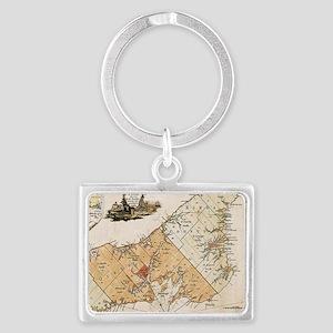 Vintage Map of Prince Edward Island (177 Keychains