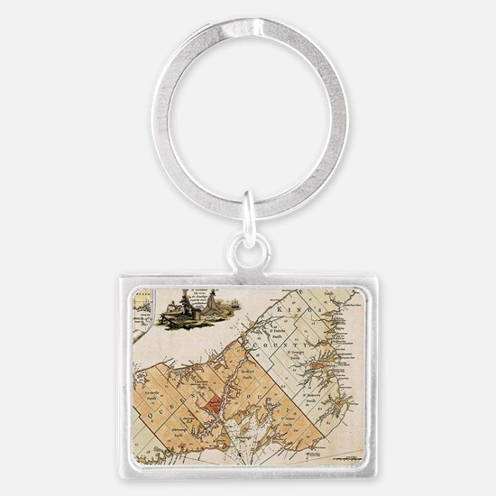 Vintage Map of Prince Edward Island (177 Keychains
