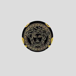 Gold Medusa Mini Button