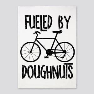 Fueled By Doughnuts Rough Text 5'x7'Area Rug