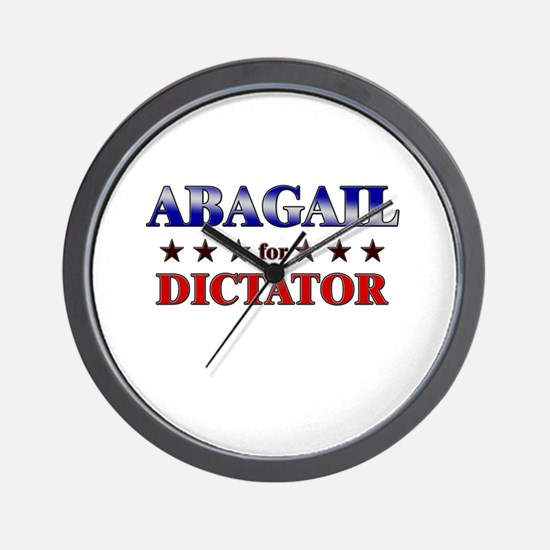 ABAGAIL for dictator Wall Clock