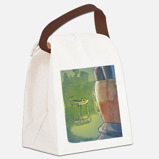 Cute Old book illustrations Canvas Lunch Bag