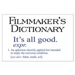 Film Dictionary: All Good! Large Poster