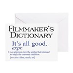 Film Dictionary: All Good! Greeting Card