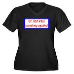 Ron Paul cure-4 Women's Plus Size V-Neck Dark T-Sh