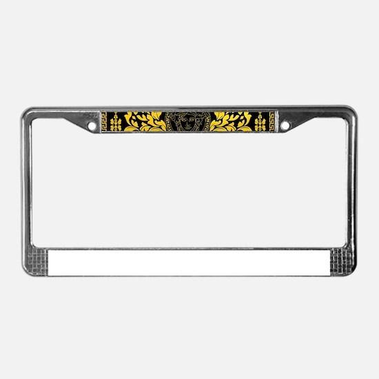 Gold Medusa License Plate Frame