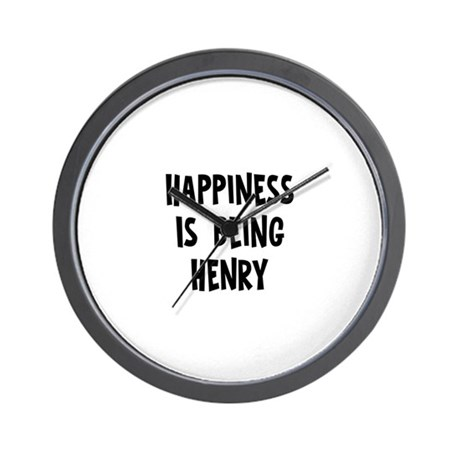 Happiness is being Henry Wall Clock