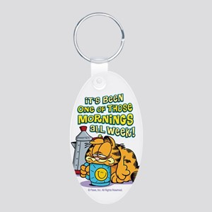 One Of Those Mornings Aluminum Oval Keychain
