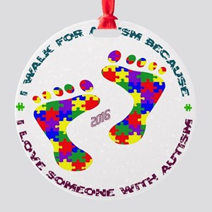 Walk for Autism 2016 Round Ornament