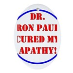 Ron Paul cure-2 Oval Ornament