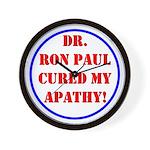 Ron Paul cure-2 Wall Clock