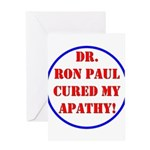 Ron Paul cure-2 Greeting Card