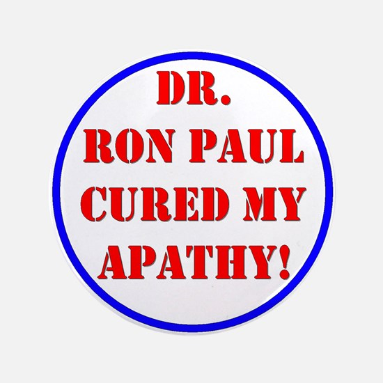 "Ron Paul cure-2 3.5"" Button"