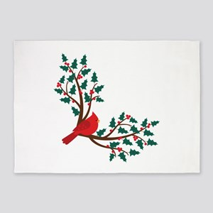 Christmas Cardinal 5'x7'Area Rug