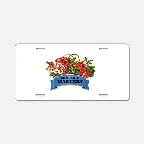 blue complete mastery Aluminum License Plate