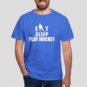 Eat Sleep Play Hockey Dark T-Shirt