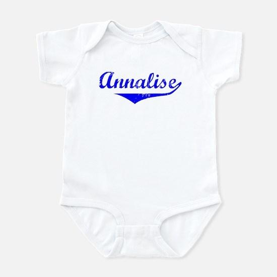 Annalise Vintage (Blue) Infant Bodysuit