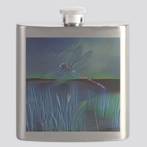 Dragonfly Pond Flask