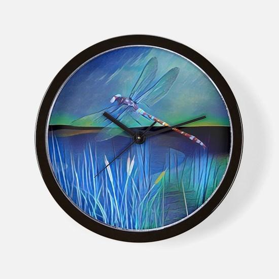 Dragonfly Pond Wall Clock