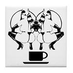 2 girls 1 cup Tile Coaster