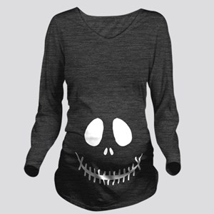 Halloween Skeleton Long Sleeve Maternity T-Shirt