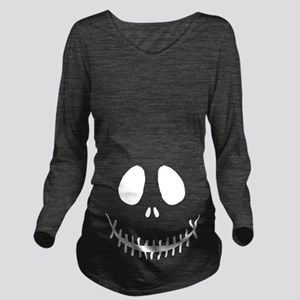 halloween skeleton long sleeve maternity t shirt