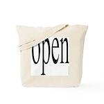 299. open. .  Tote Bag