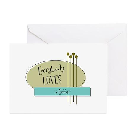 Everybody Loves a Gunner Greeting Cards (Pk of 10)