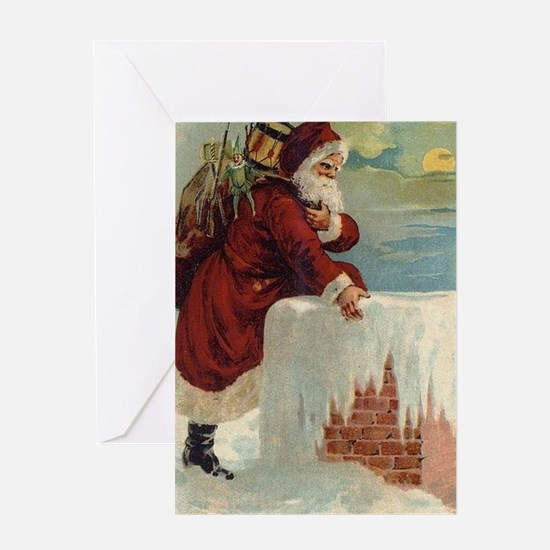 Cute Old world christmas Greeting Card