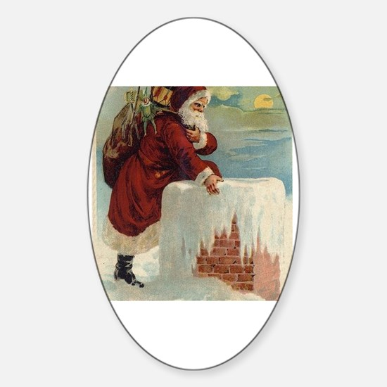 Cute Old world christmas Sticker (Oval)