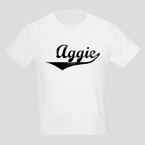 Aggie Vintage (Black) Kids Light T-Shirt